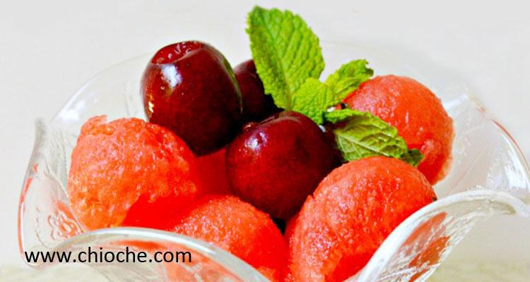 دسر هندوانه و میوه فصل