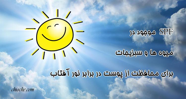 میزان SPF در مواد طبیعی برای محافظت از پوست در برابر نور آفتاب