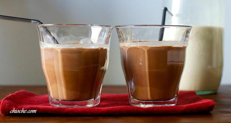 میلک شیک فندق شکلاتی ( شیر فندق شکلاتی)
