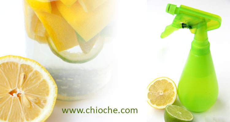 طرز تهیه اسپری شیشه پاک کن و چربی پاک کن لیمو