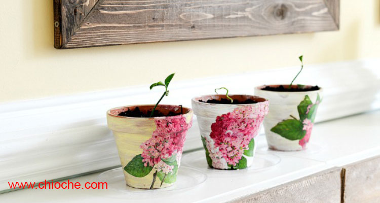 روش ساختن گلدان گل دکوری